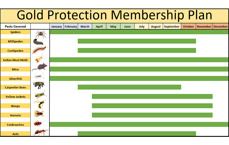 pest calendar for gold protection plan