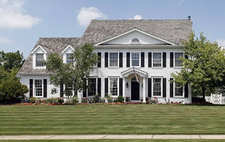 a tall house with an attic
