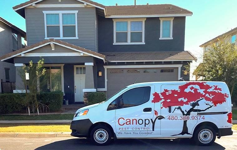 a canopy pest control van