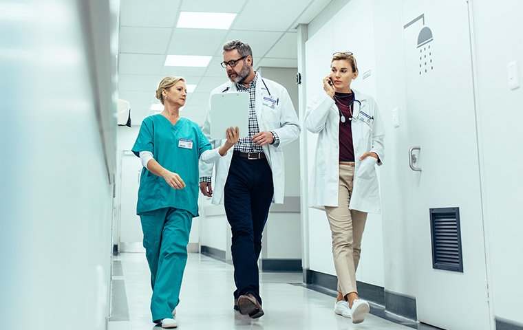 healthcare professionals in a hospital