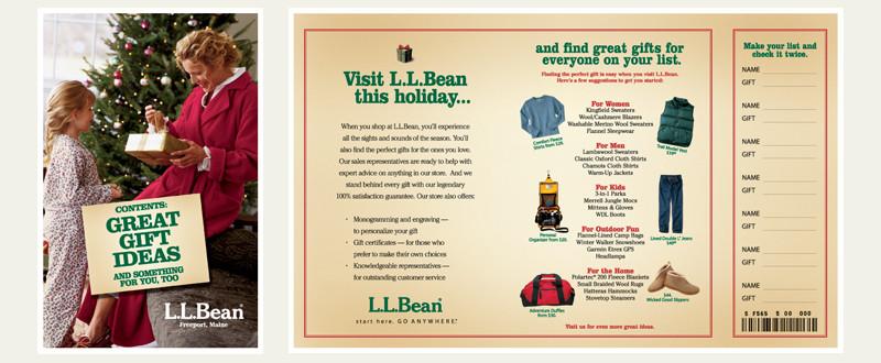 LLBean Holiday Mailer