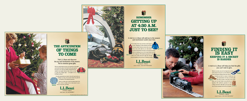 LLBean Holiday Advertising