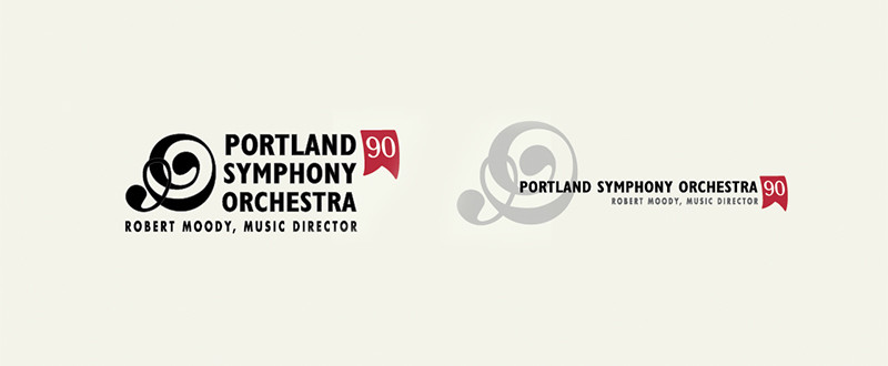 Portland Symphony Orchestra 90th Anniversary Branding