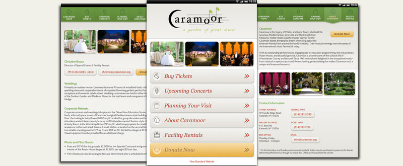 Caramoor Mobile Site