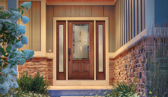 entry door on an akron ohio home