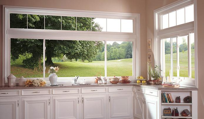 kitchen with beautiful vinyl windows in akron ohio