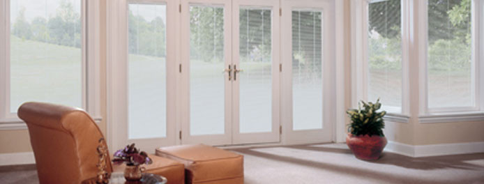 living room in cleveland ohio home with beautiful french doors