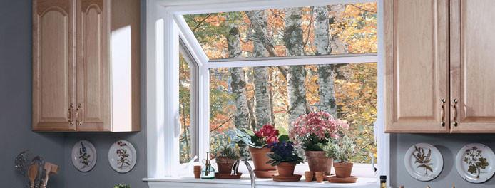 kitchen in cleveland home with beautiful garden windows