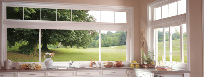 sliding windows in a beautiful kitchen in akron oh