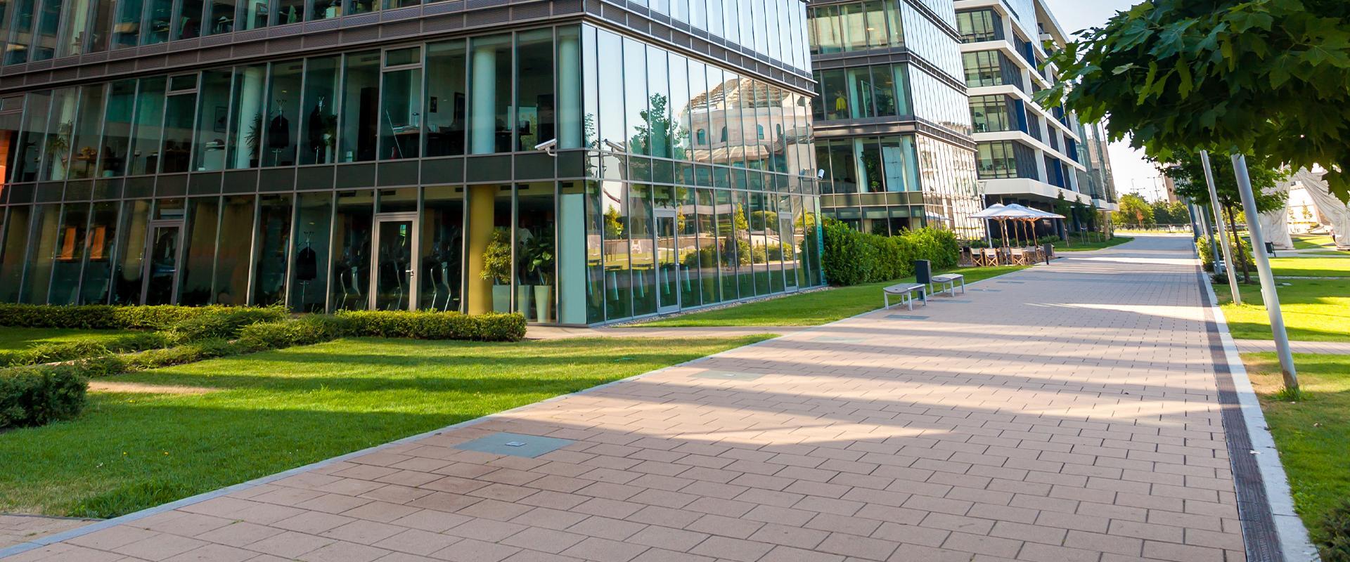 commercial building walkway