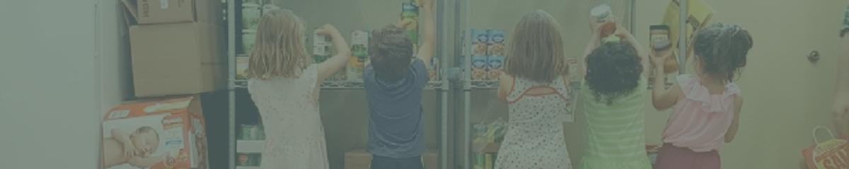 Kids Helping at Food Bank