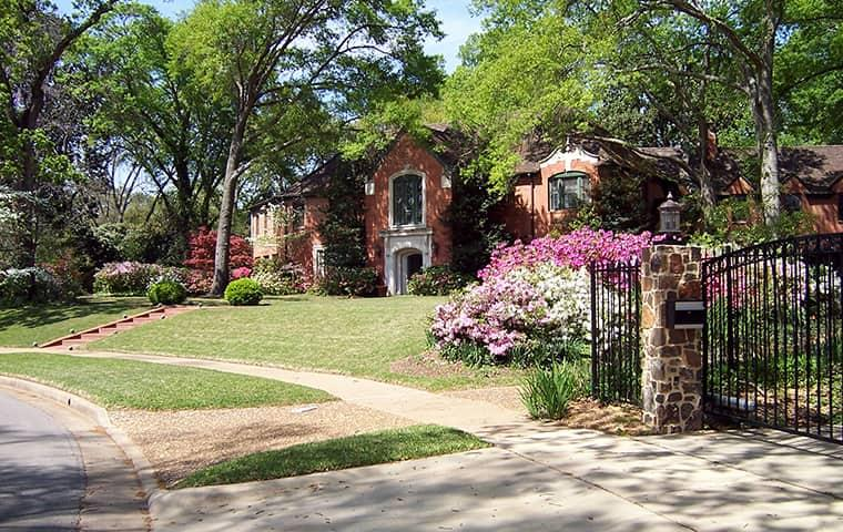 a house in a neighborhood in fort worth texas