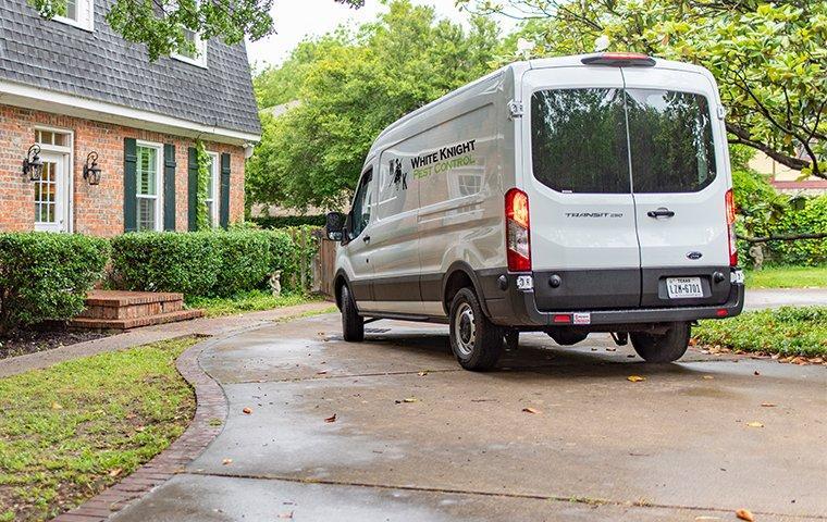 company van in driveway