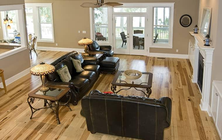 the inside of a living room in a home in north richland hills tx