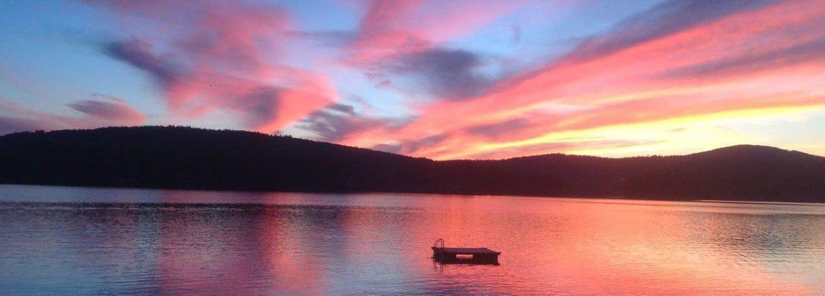Sunset on Wilson Lake