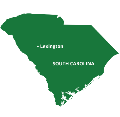 where we service map of south carolina featuring lexington