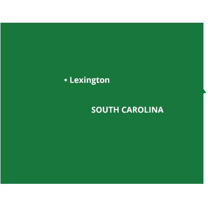 where we service map of south carolina featuring lexington