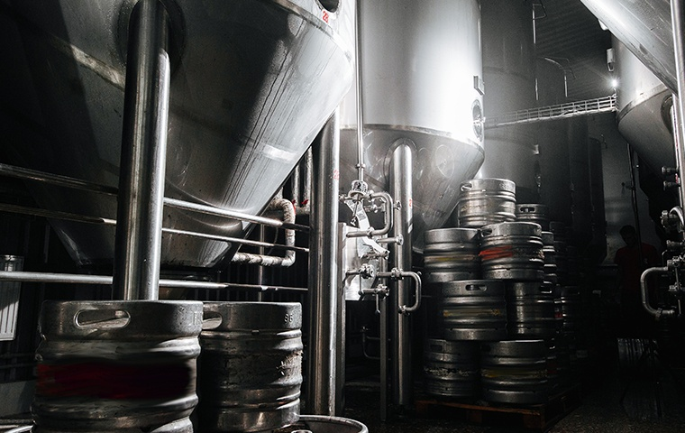 interior view of a commercial brewery in modesto california