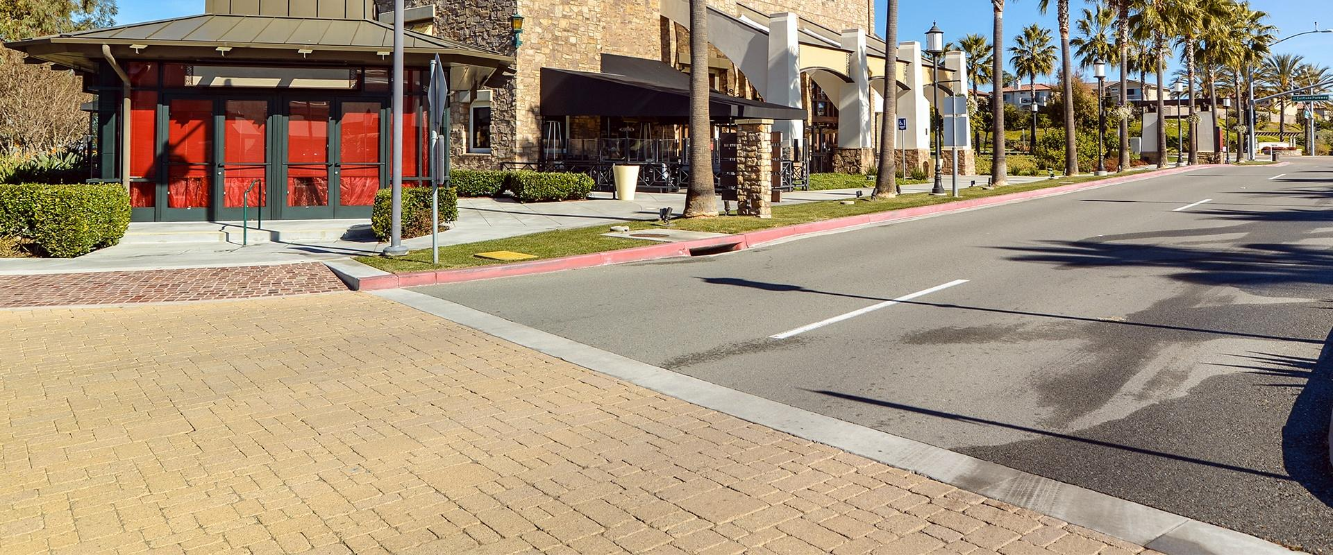 street view of a commercial plaza in modesto california