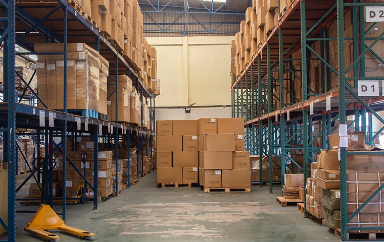 the interior of a warehouse in charlotte north carolina