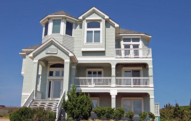 the exterior of a home in tega cay south carolina