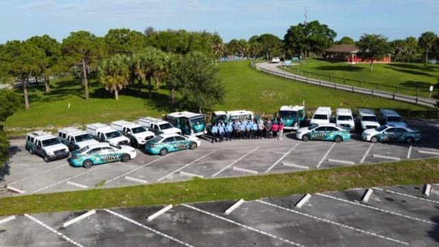 native pest management team and vehicles
