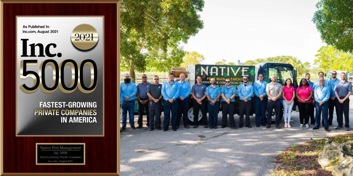 Inc 5000 digital plaque with team photo