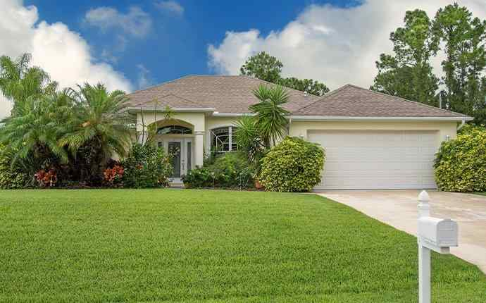 a home and lawn in west palm beach florida