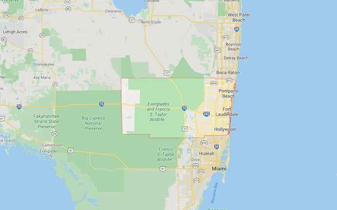 map of broward county florida