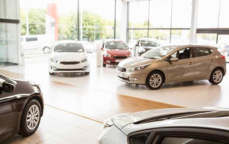a showroom for cars
