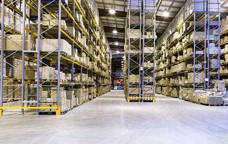 a large warehouse facility