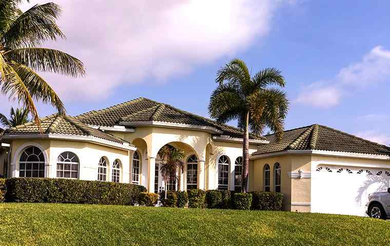 the exterior of a home in wellington florida
