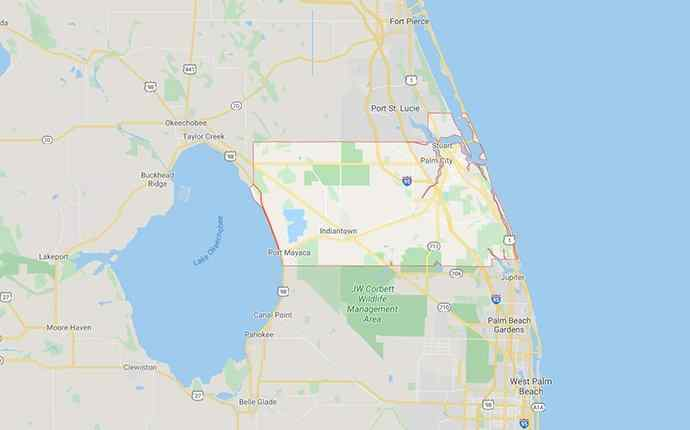 map of martin county florida