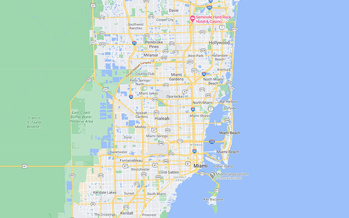 map of northern miami