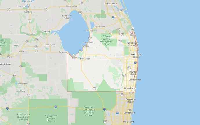 map of palm beach county florida