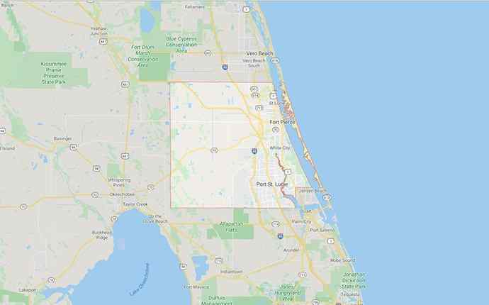 map of st lucie county florida