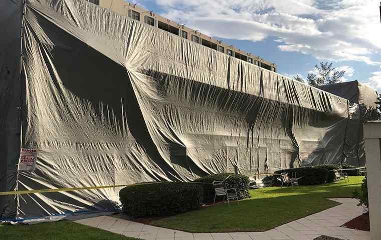 a fumigation tent
