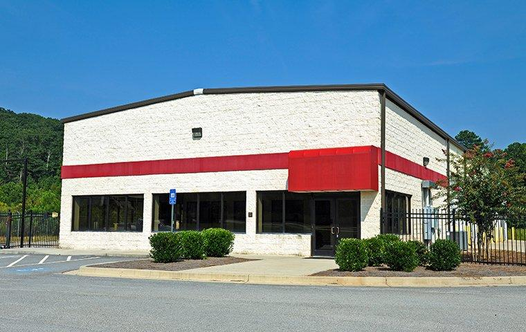 the exterior of a commercial building in michigan city indiana