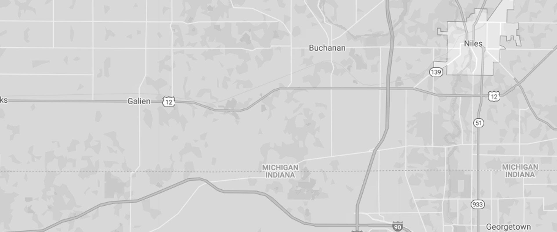 a map of niles michigan