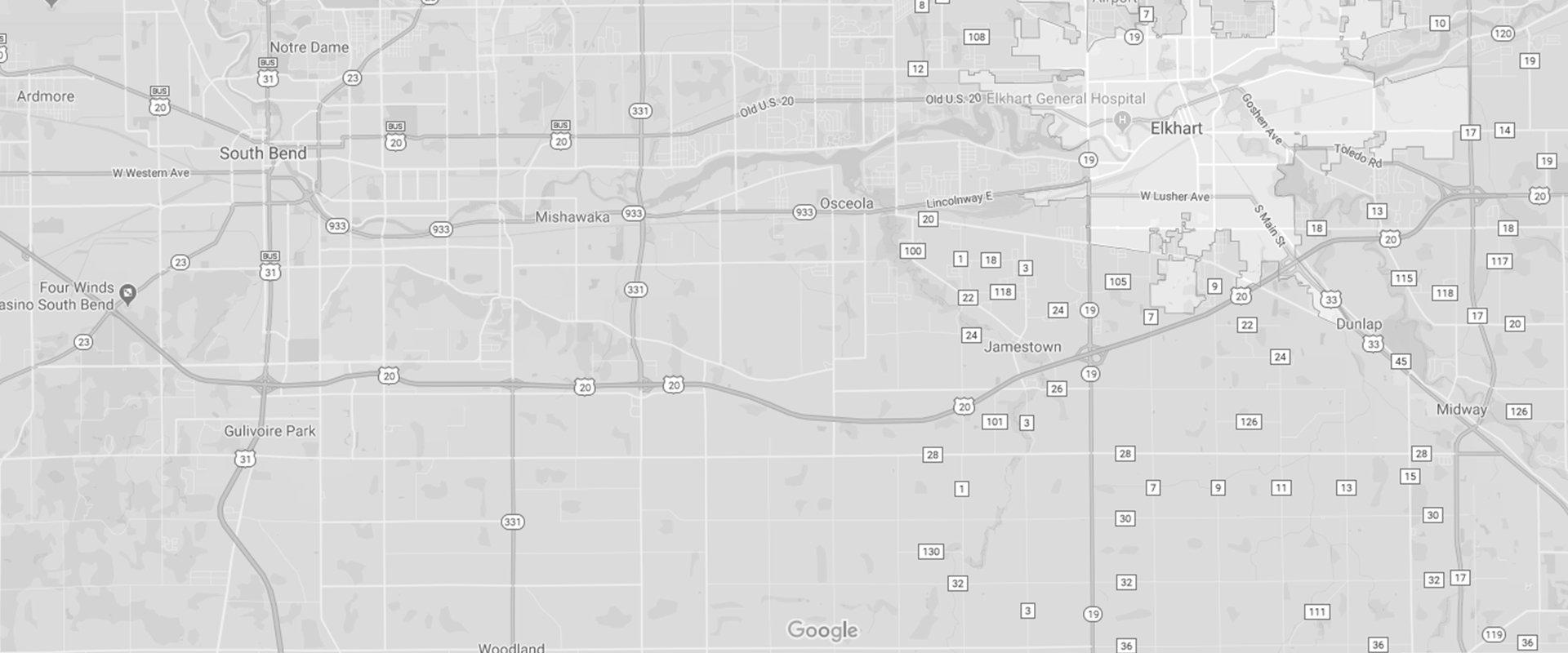a map of elkhart indiana