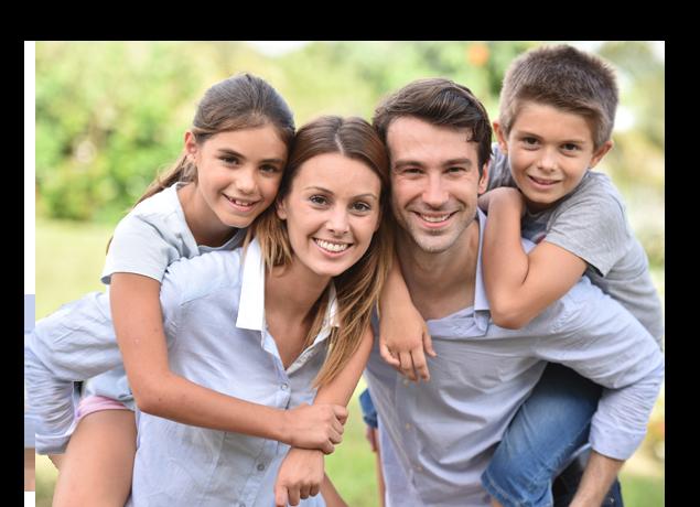 happy family posing