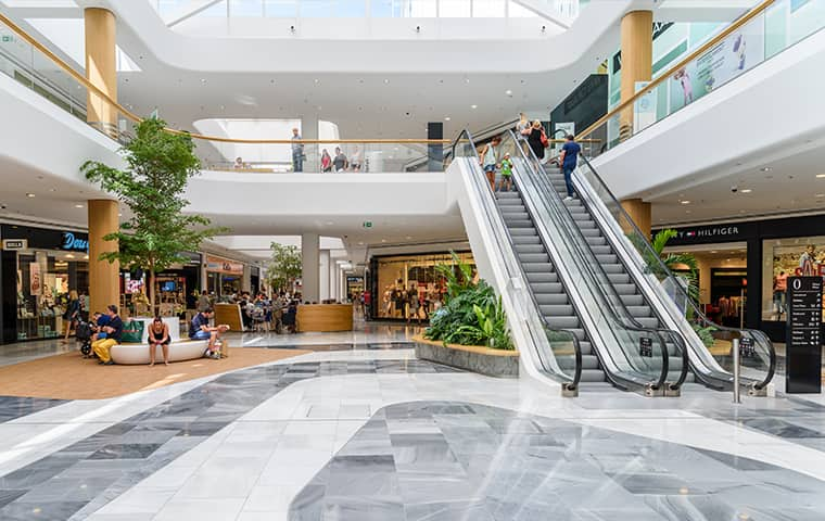 interior view of a shopping mall in delray beach florida