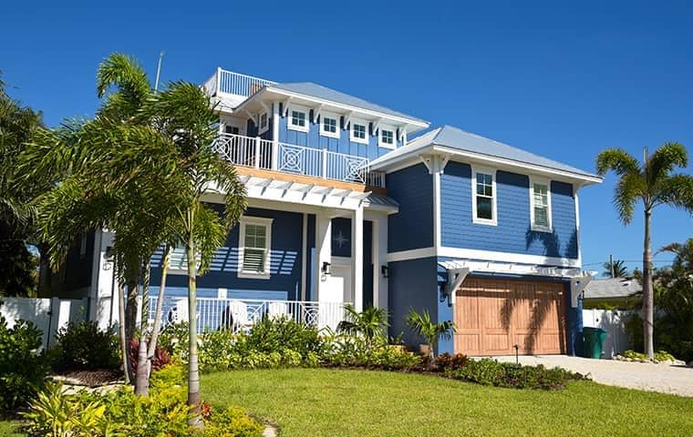street view of a blue house in delray beach florida