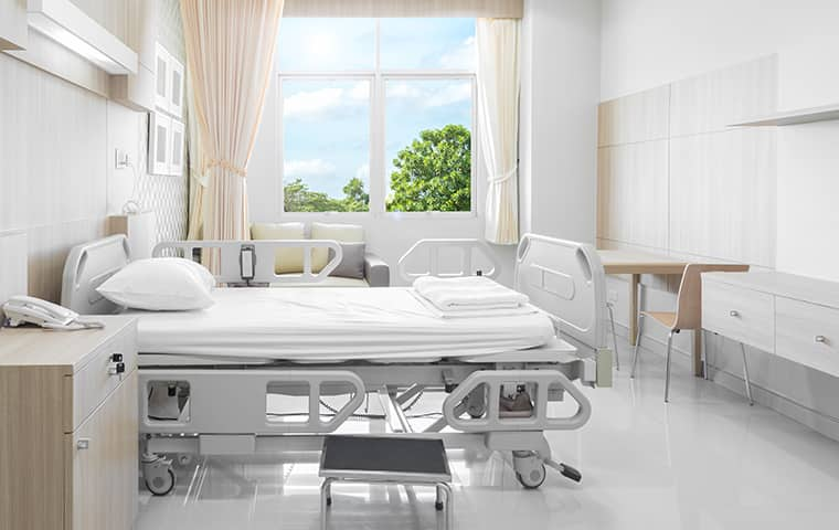 interior view of a hospital room in greenacres florida