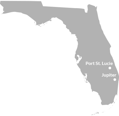 where we service map of florida