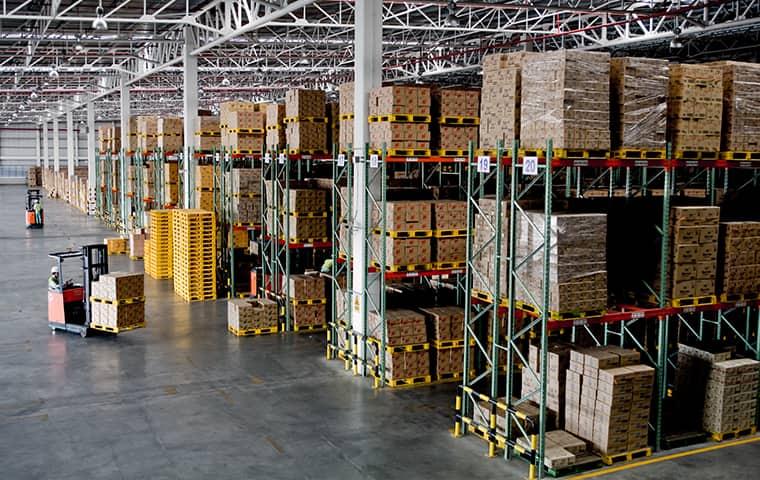 interior of a warehouse in cordova tennessee