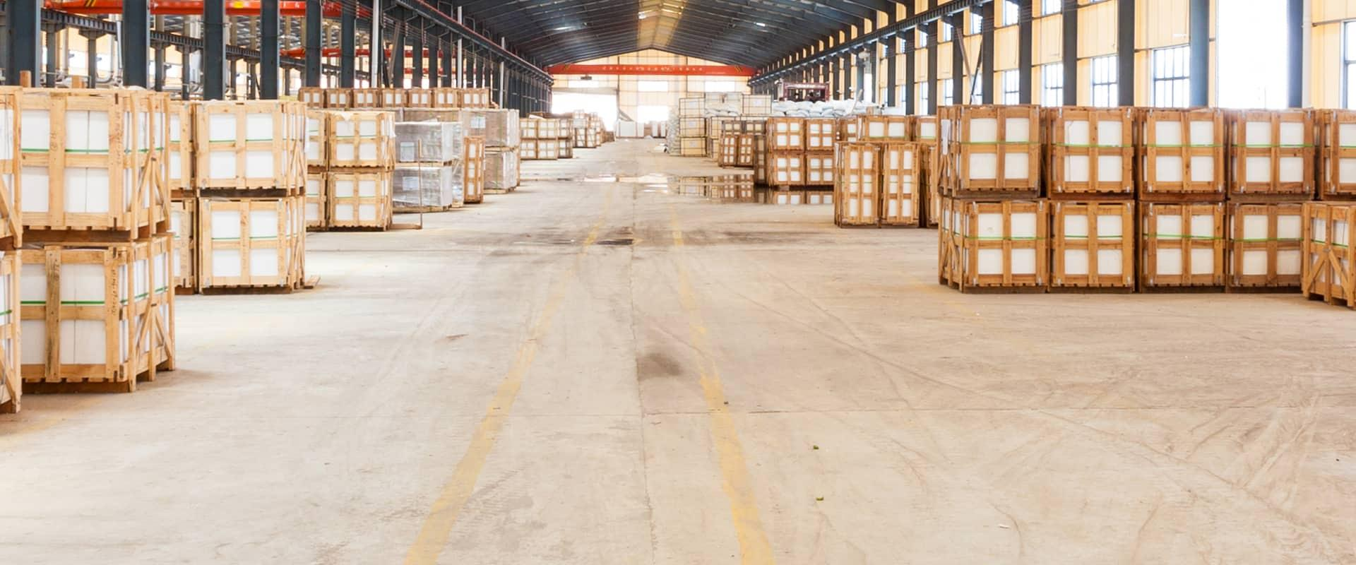 interior view of a warehouse in fort worth texas