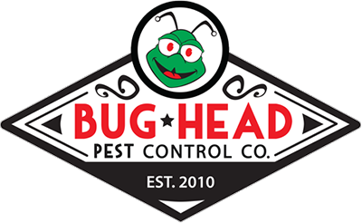 bug head pest control company logo