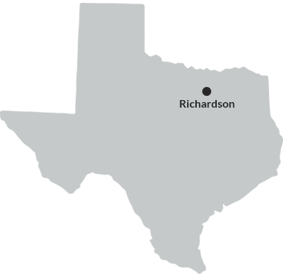 where we service map of texas