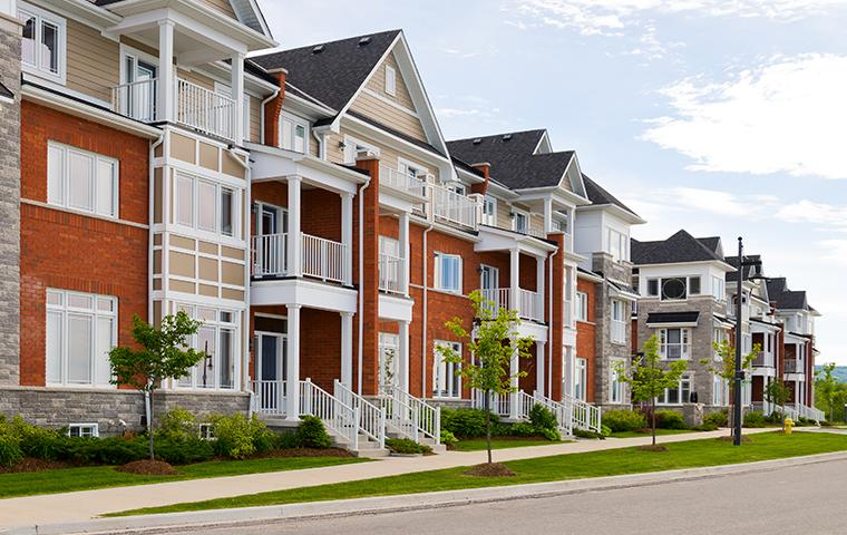 street view of a row of townhouses in richardson texas